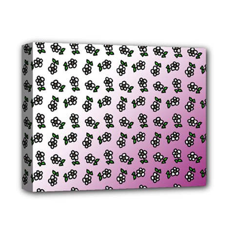 Magenta Gradient Flower Deluxe Canvas 14  X 11  (stretched)