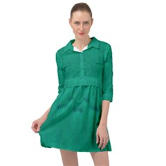 Love To One Color To Love Green Mini Skater Shirt Dress by pepitasart