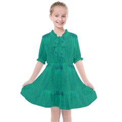 Love To One Color To Love Green Kids  All Frills Chiffon Dress