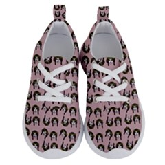 Retro Girl Daisy Chain Pattern Light Pink Running Shoes by snowwhitegirl