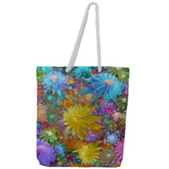 Apo Flower Power Full Print Rope Handle Tote (large) by WolfepawFractals