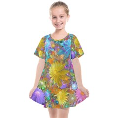 Apo Flower Power Kids  Smock Dress by WolfepawFractals