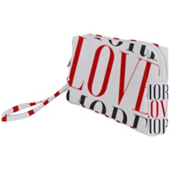 More Love More Wristlet Pouch Bag (small) by Lovemore