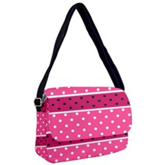 Polka Dots Two Times 2 Black Courier Bag