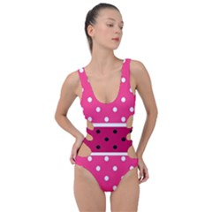 Polka Dots Two Times 2 Black Side Cut Out Swimsuit by impacteesstreetwearten