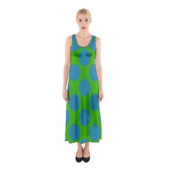 Polka Dots Two Times 6 Sleeveless Maxi Dress