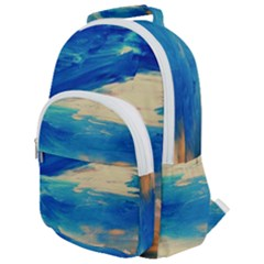Skydiving 1 1 Rounded Multi Pocket Backpack by bestdesignintheworld