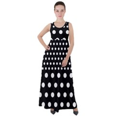 Polka Dots Two Times 11 Black Empire Waist Velour Maxi Dress by impacteesstreetwearten