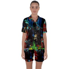 Night 1 2 Satin Short Sleeve Pyjamas Set