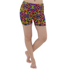Abstract 35 Lightweight Velour Yoga Shorts by ArtworkByPatrick
