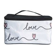 Pattern With Love Words Cosmetic Storage by Vaneshart