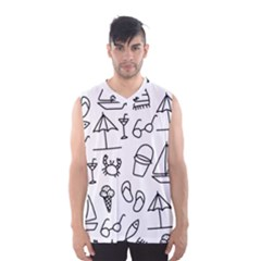 Black And White Summer Vector Pattern Men s Sportswear