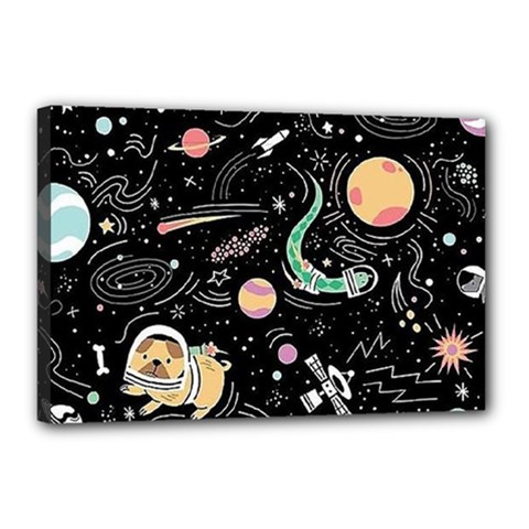 Animals Galaxy Space Canvas 18  X 12  (stretched)