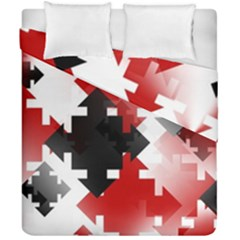 Black And Red Multi Direction Duvet Cover Double Side (california King Size)