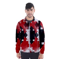 Black And Red Multi Direction Men s Windbreaker by Vaneshart