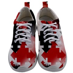 Black And Red Multi Direction Mens Athletic Shoes by Vaneshart