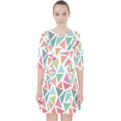 Colorful Triangle Vector Pattern Pocket Dress