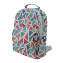 Colorful Triangle Vector Pattern Flap Pocket Backpack (large)