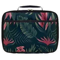 Tropical Flowers Pattern Tekstura Fon Background Pattern Full Print Lunch Bag