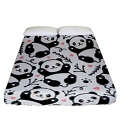 Panda Pattern Fitted Sheet (queen Size)