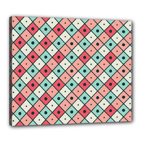 Romboidal Vector Pattern Canvas 24  X 20  (stretched)