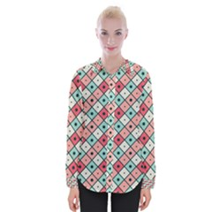 Romboidal Vector Pattern Womens Long Sleeve Shirt
