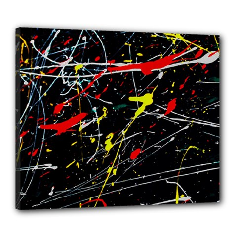 Random Paint Splats Background Canvas 24  X 20  (stretched)