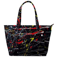 Random Paint Splats Background Back Pocket Shoulder Bag  by Vaneshart