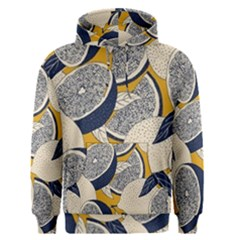 Blue And Ochre Men s Pullover Hoodie