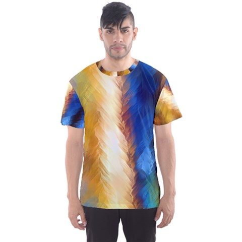 Abstract Paint Smears Men s Sports Mesh Tee by Vaneshart