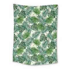 Leaves Tropical Wallpaper Foliage Medium Tapestry by Vaneshart