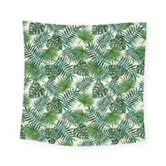 Leaves Tropical Wallpaper Foliage Square Tapestry (small) by Vaneshart