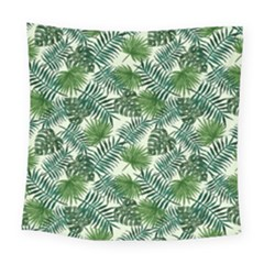 Leaves Tropical Wallpaper Foliage Square Tapestry (large) by Vaneshart