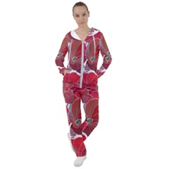 Floral Pattern Background Women s Tracksuit