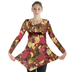 Floral Pattern Design Long Sleeve Tunic