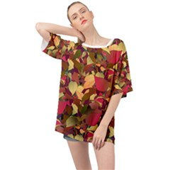 Floral Pattern Design Oversized Chiffon Top