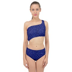 Constellations Pattern Spliced Up Two Piece Swimsuit by Vaneshart