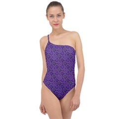Iris Retrowheel Classic One Shoulder Swimsuit