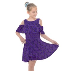 Iris Retrowheel Kids  Shoulder Cutout Chiffon Dress