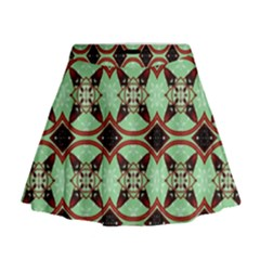 Christmas Pattern Mini Flare Skirt