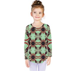 Christmas Pattern Kids  Long Sleeve Tee