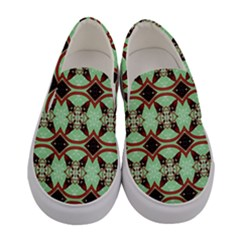 Christmas Pattern Women s Canvas Slip Ons