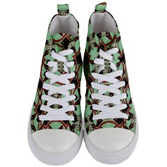Christmas Pattern Women s Mid Top Canvas Sneakers