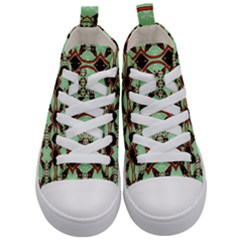 Christmas Pattern Kids  Mid Top Canvas Sneakers