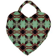 Christmas Pattern Giant Heart Shaped Tote