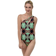 Christmas Pattern To One Side Swimsuit