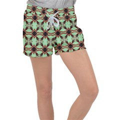 Christmas Pattern Women s Velour Lounge Shorts