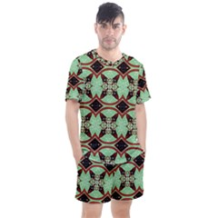 Christmas Pattern Men s Mesh Tee And Shorts Set