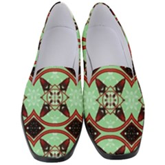 Christmas Pattern Women s Classic Loafer Heels