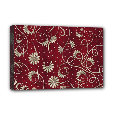 Floral Pattern Background Deluxe Canvas 18  X 12  (stretched)